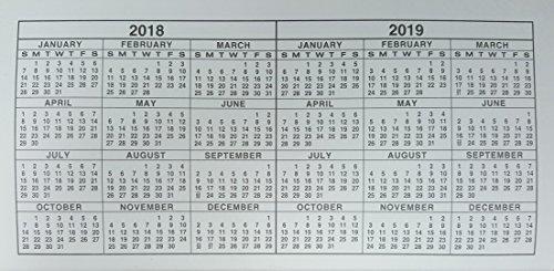 Amazon Com Pack Of 2 2 Year Pocket Calendar 2018 2019 Fits