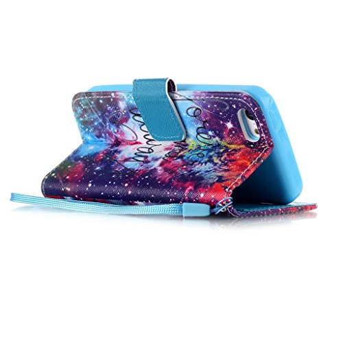 iPhone 5C Coque , Apple iPhone 5C Coque Lifetrut® [ Cosmos ] [Wallet Fonction] [stand Feature] Magnetic snap Wallet Wallet Prime Flip Coque Etui pour Apple iPhone 5C