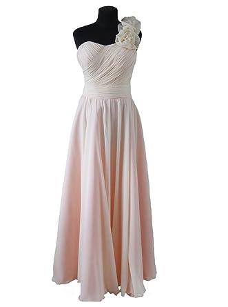 Pfirsichfarbenes Beige langes spezielles Gelegenheits-Kleid für ...