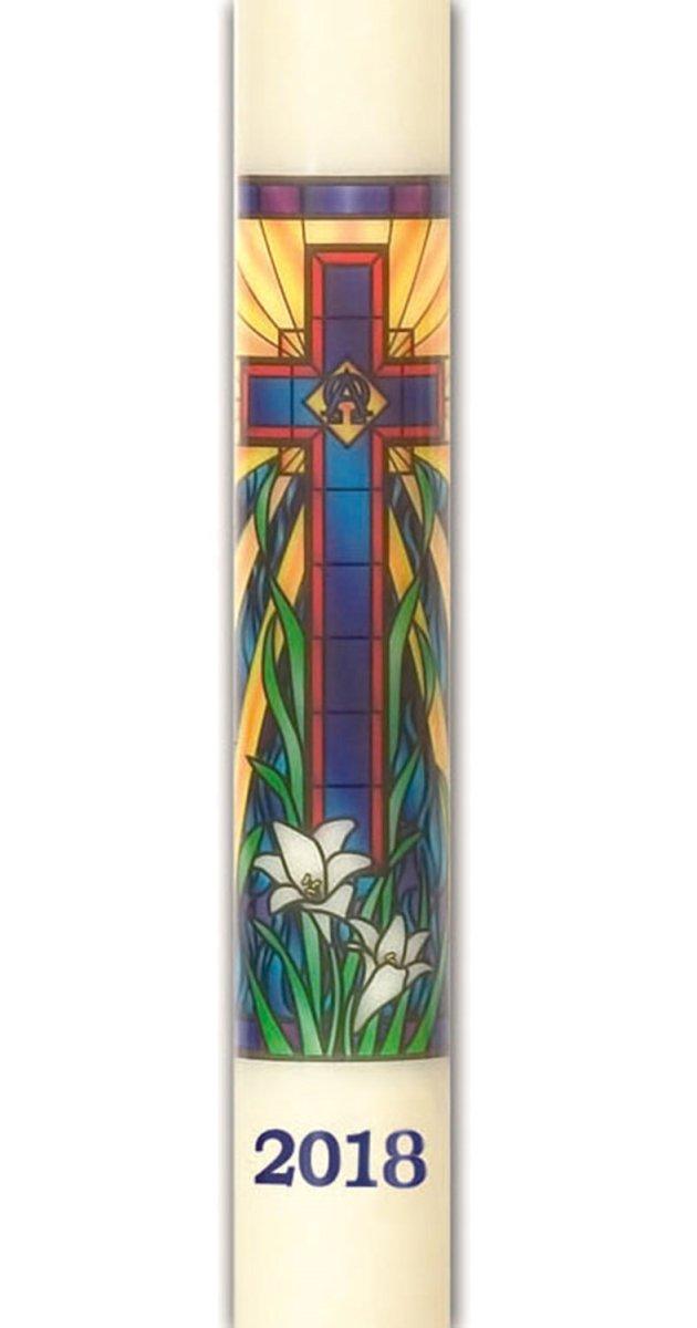 CBCS 31181 No. 11 Radiant Light Mosaic Paschal Candle