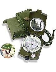 Punvot Kompass, militär marschkompass, kompass utomhus, professionell navigeringskompass med fluorescerande design, militär kompass perfekt för camping vandring jakt och utomhusaktiviteter
