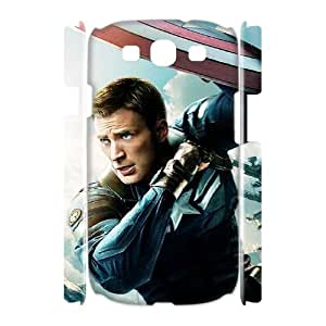 J-LV-F Captain America Customized Hard 3D Case For Samsung Galaxy S3 I9300