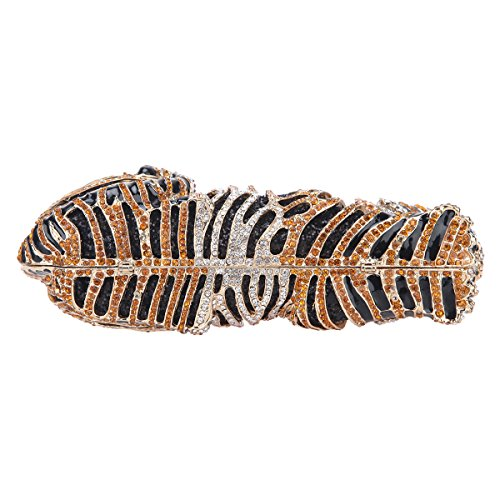 Clutch and Studded Purse Tiger Gold Big Glitter Clutch Bag Bonjanvye Evening IR6q00