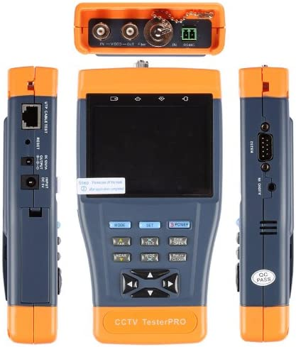 "10 in 1 Stest-896 3.5/"" CCTV Fiber Optical Security Tester PRO Camera Audio Video"