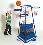 Children's 4-Rings Basketball Stand with Storage Bag