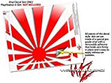 Rising Sun Japanese Flag Red - Decal Style Skin fits Sony PlayStation 4 Slim Gaming Console