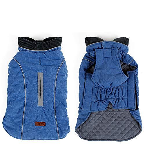 K9 Overcoat (zgshnfgk Pet Dog Puppy Apparel Cloth, Dog Winter Cloth Pet Overcoat Coat(Blue/XL))