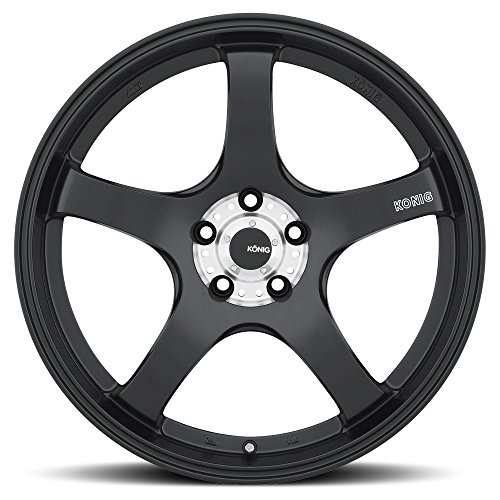 Konig CENTIGRAM Matte Black Wheel with Machined PCD (19x8.5''/5x114.3mm, +33mm offset) by Konig (Image #2)