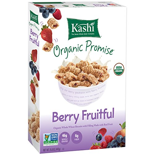 Kashi Organic Promise Cereal  Berry Fruitful Whole Wheat Biscuits  15 6 Ounce  Pack Of 12