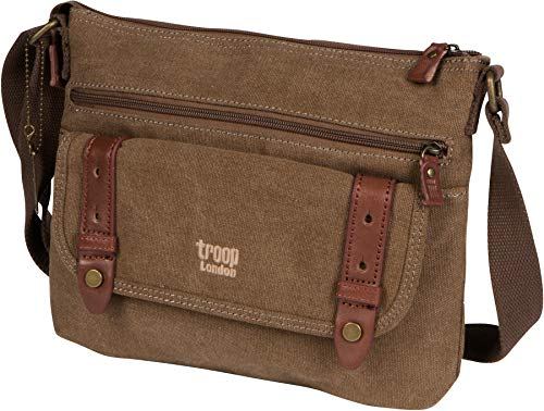 Troop London Canvas Classic Small Messenger Across Body Shoulder Bag TRP0369 (London Troop)