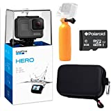 GoPro Hero (2018) Camera, Ritz Gear GoPro Case, Polaroid 8GB Class 10 MicroSD Card and Polaroid Floating Hand Grip Acessory Bundle