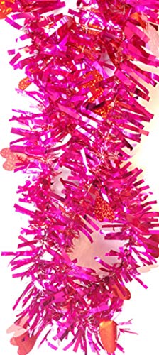 Greenbrier International Valentine's Day 18 Feet of Bright Pink and Red Garland Full of Red Hearts (Bundle 2)