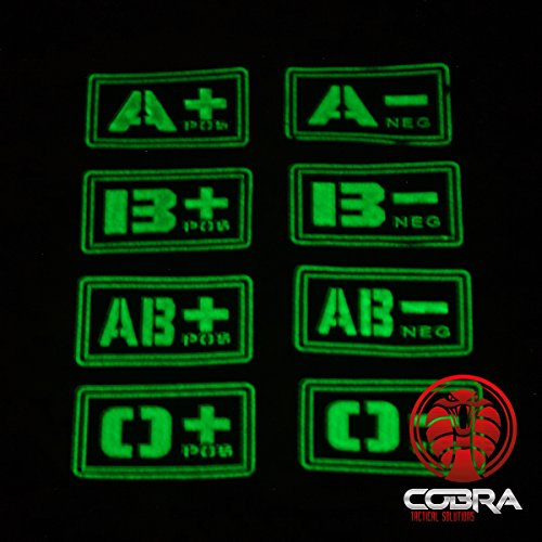 3D patch PVC blood Cobra B green velcro Tactical with NEG type Solutions Military fluo YtwEX