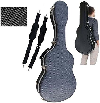 Estuche ABS para Guitarra Clásica, marca Cibeles (Gris Cuadritos ...