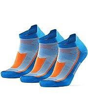 DANISH ENDURANCE Laag Uitgesneden Hardloopsokken voor Heren en Dames, 3 of 5-Pak, Dunne Atletische Sokken voor Sport, Sneakers, Zomer, Zwart, Wit, Blauw