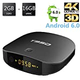 [2GB+16GB] T95D Android TV Box, REDGO Android 6.0 Quad-core Cortex A7 Full HD 2.4G WiFi Internet HDMI 2.0 4K*2K 1080P BT4.0 H.265 Smart TV Box