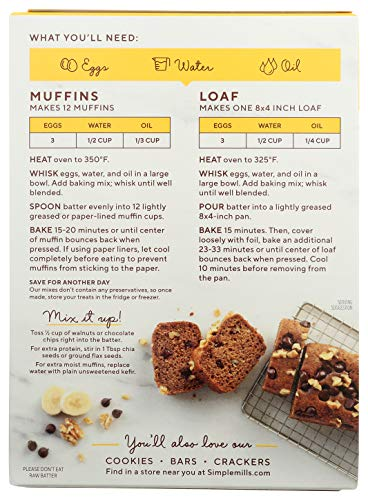 Simple Mills Almond Flour Baking Mix, Gluten Free Banana Bread Mix, Muffin Pan Ready, Made with whole foods, (Packaging May Vary), 9 Ounce 8
