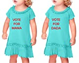 Vote For Mama Vote For Dada Sunflower Short Sleeve Dress Twin Set Caribbean Blue 12 Months