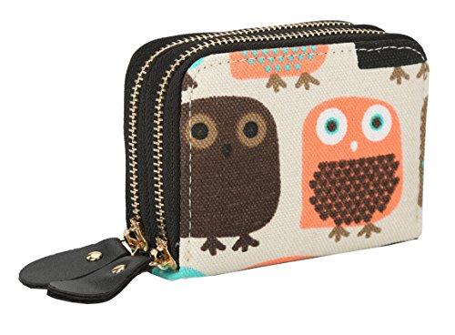 Womens Zipper Card Wallet Purse Holder Women Small Canvas Clutch Bag Coin Pouch Elephant (Small, ()