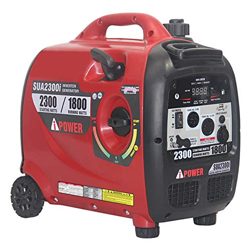 A-iPower SUA2300iV 2300-Watt Portable Inverter Geneator RV Ready Ultra Quiet Mobile Kit, Red & ()