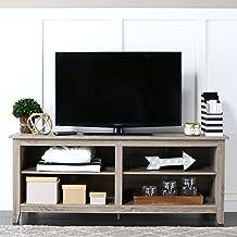 Walker Edison WE Furniture Wood TV Stand, 58-Inch, Ash Grey