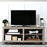 WE Furniture 58' Wood TV Stand Storage Console, Driftwood
