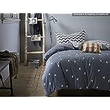 FADFAY Home Textile,Fashion European Grey Plaid Duvet Cover,Modern Grey Bedding Set,Unique Geometric Pattern Mens Bedding Sets