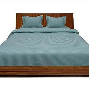 Algodón egipcio de ropa de cama 450hilos juego de sábanas con extra funda de almohada UK Small Double Aqua rayas 100% algodón 450TC