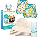 Tidy Tots Diaper Hassle Free 4 Diaper Snap Essential Set With TweetHeart and Elephant Covers