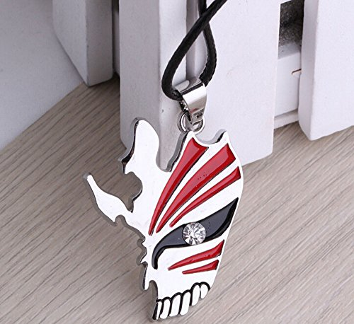 Generic Bleach Anime Ichigo Half Face Hollow Mask Necklace Cosplay Pendant