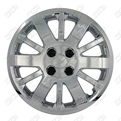 Amazon.com: CCI IWC453-15S 15 Inch Bolt On Silver Lacquer Finish Hubcaps - Pack of 4: Automotive