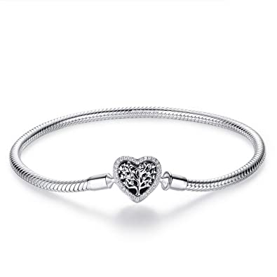 Bracelets Jewellery & Watches Womens 925 Silver Charm Bracelet European Pearl Beads Fit Sterling Chain Bangle