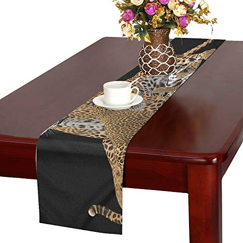 Cheetah Big Cat Predator Wild Animal Wildcat 2008104 Table Runner, Kitchen Dining Table Runner 16 X 72 Inch for Dinner Parties, Events, -