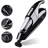 Car Vacuum Cleaner WOQI Handheld Auto Dust Catcher DC 12-Volt 80W Automotive Vacuum Cleaner with 13.2Ft(4M) Power Cord, Brush, Hose and Gap Tool(Black)