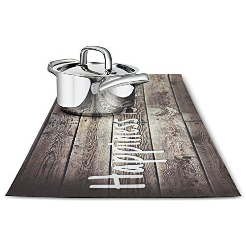 Trivetrunner :Decorative Trivet and Kitchen Table Runners Handles Heat Up to 300F, Anti Slip, Hand Washable, and Convenient for Hot Dishes and Pots,Hand Washable (wood rustic)