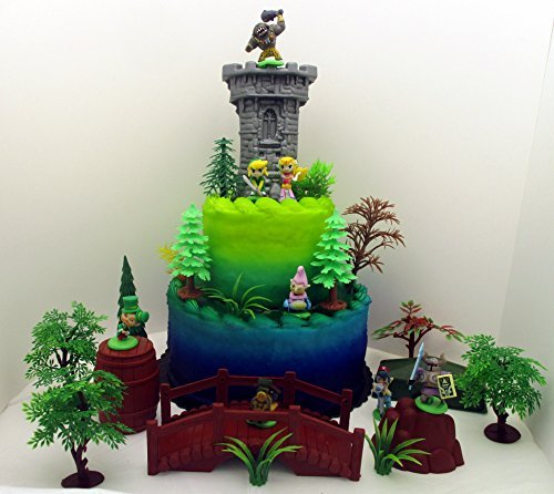 Zelda 25 Piece Deluxe Birthday Cake Topper Set Featuring Ran
