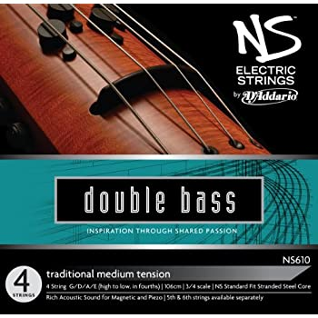 d 39 addario ns electric traditional bass string set 3 4 scale medium tension. Black Bedroom Furniture Sets. Home Design Ideas