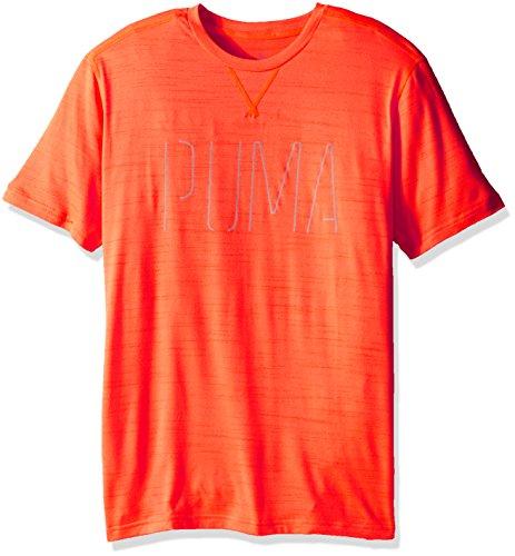 T-shirt manica corta da uomo Nightcat, Heather arancio shocking, medio