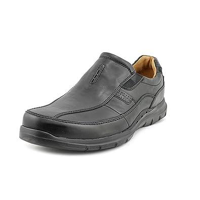 420d62ca60e9 Clarks Unstructured Un.Regal Mens Black Leather Loafers Shoes 12 UK UK 12
