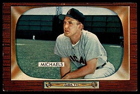 Amazon.com  Baseball MLB 1955 Bowman  85 Cass Michaels G VG Good ... e503e9550aa