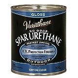 Rust-Oleum Varathane 250041H 1-Quart Classic Clear Water Based Outdoor Spar Urethane, Gloss Finish