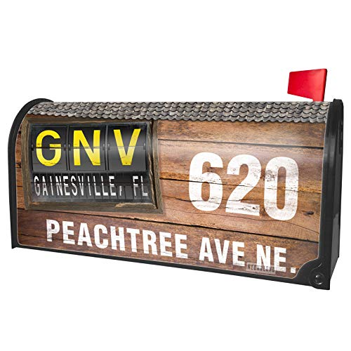 NEONBLOND Custom Mailbox Cover GNV Airport Code for Gainesville, FL -
