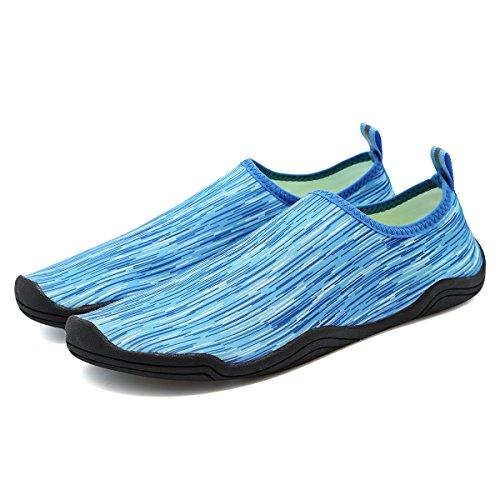 FANTURE Männer und Frauen Multifunktionale Barfuß Schuhe Wasser Schuhe Blau02