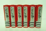 ON THE WAY6x3000mAh 18650 3.7V Red Protected Li-ion Rechargeable Battery for LED Flashlight Torch Headlight Toys Electronic Gadgets