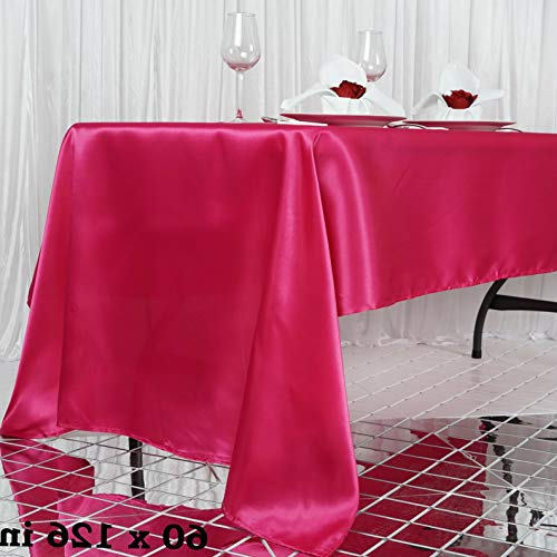 Mikash Rectangular Satin Tablecloth Dinner Wedding Party Linens Decorations Wholesale | Model WDDNGDCRTN - 9112 | 72x120
