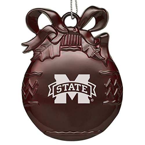 State Bulldogs Mississippi Holiday Ornament (Mississippi State Univerty - Pewter Christmas Tree Ornament - Burgundy)