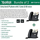 Yealink SIP-T21P E2 Bundle of 2 Entry-level IP phone 2 Lines HD voice PoE LCD