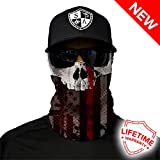 Salt Armour Shield Thin Red Line skull Face Shield Mask Hunting Fishing Outdoor