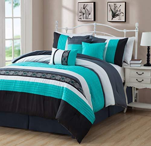 - Ben & Jonah Size Luxe Collection 7 Piece Down Alternative Comforter Set 7, Queen, Hamptons