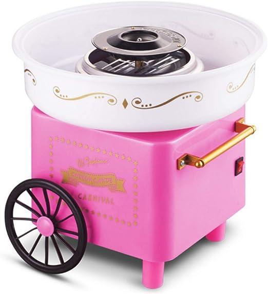 Carrito eléctrico máquina de algodón dulce fabricante de dulces de algodón para niños máquina del carro cocina DIY 500W rosa: Amazon.es: Hogar